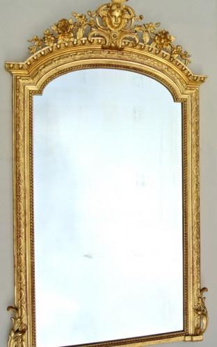 Antiquités - Large Napoléon III  mirror