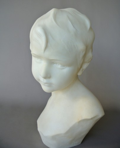 Alabaster signed Dante Zoi (XIXth/XXth) - Sculpture Style Art Déco