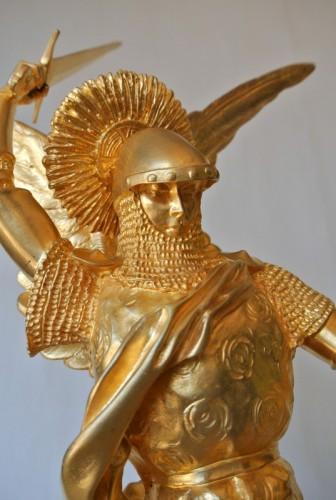 """Sculpture  - """"Saint Michel"""" par Emmanuel Frémiet 1824/1910"""