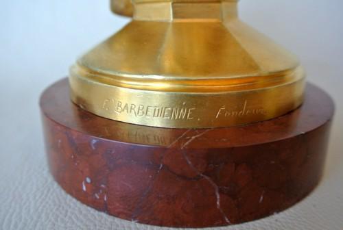 """Antiquités - """"Saint Michel"""" par Emmanuel Frémiet 1824/1910"""