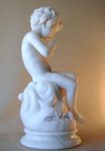 20th century - Carrara marble sculpture - Alessandro POMI (1890 - 1976)