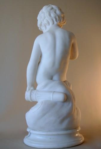 Carrara marble sculpture - Alessandro POMI (1890 - 1976) - Art Déco