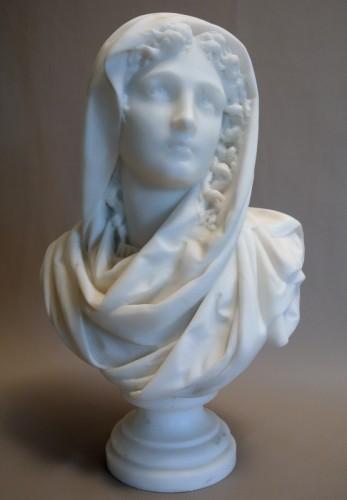 Buste signé CARRIER-BELLEUSE (1824/1887) - Sculpture Style Art nouveau
