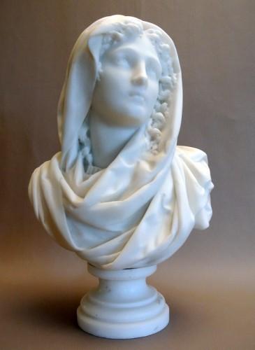 Sculpture  - Buste signé CARRIER-BELLEUSE (1824/1887)