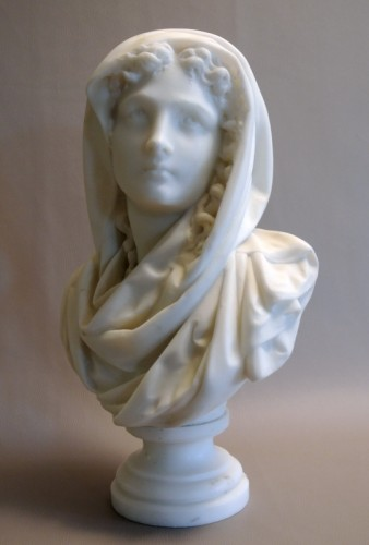 19th century - Buste signé CARRIER-BELLEUSE (1824/1887)