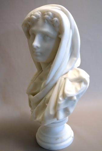 Art nouveau - Buste signé CARRIER-BELLEUSE (1824/1887)