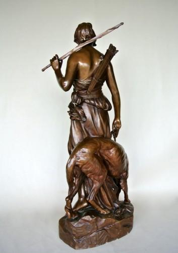 """""""Nymphe de Diane"""" by Eugène AIZELIN (1821/1902) - Sculpture Style Art nouveau"""