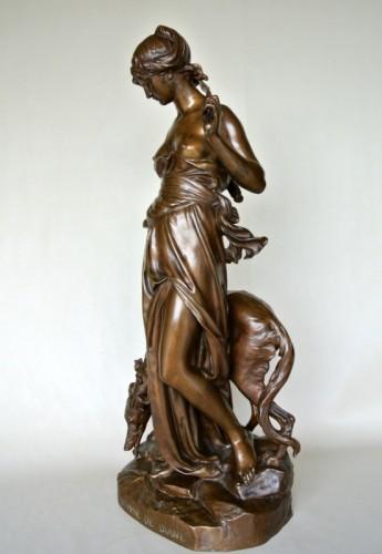 """Sculpture  - """"Nymphe de Diane"""" by Eugène AIZELIN (1821/1902)"""
