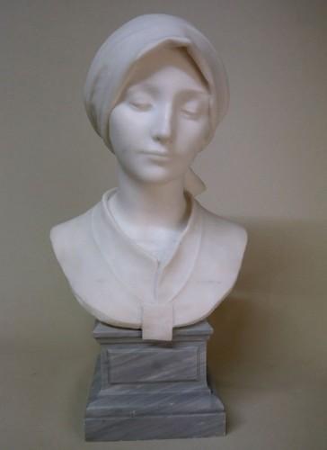 Sculpture  - Carrara marble - A. LEONARD (1841/1923)