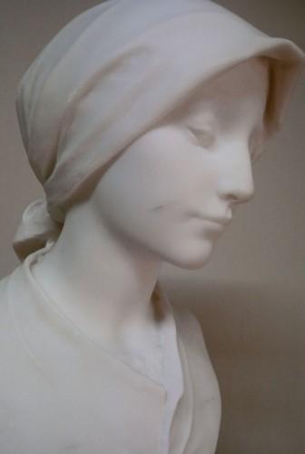 19th century - Carrara marble - A. LEONARD (1841/1923)