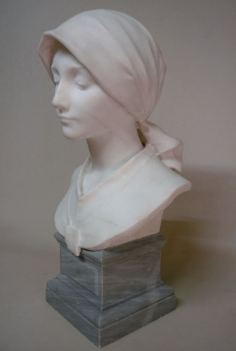 Carrara marble - A. LEONARD (1841/1923) - Art nouveau