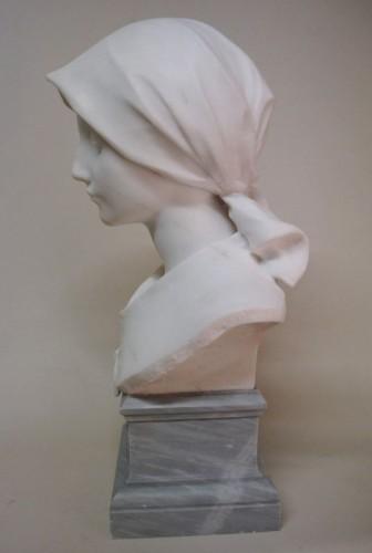 Antiquités - Carrara marble - A. LEONARD (1841/1923)