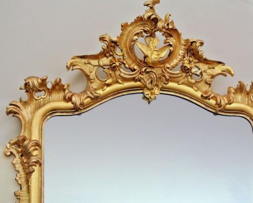 Grand miroir Napoléon III  203 X 133 - Furniture Style Napoléon III