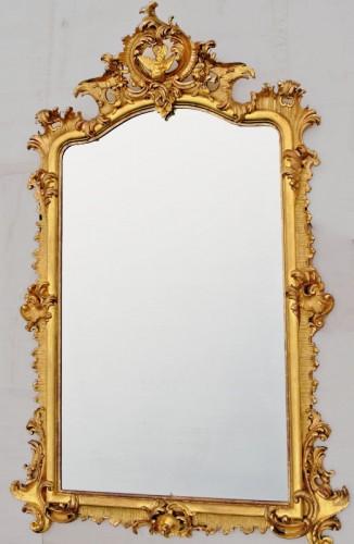 Antiquités - Grand miroir Napoléon III  203 X 133