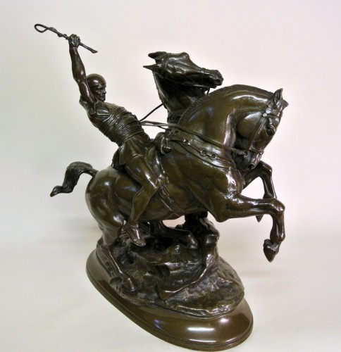 Antiquités - Bronze group signed FREMIET (1824/1910)