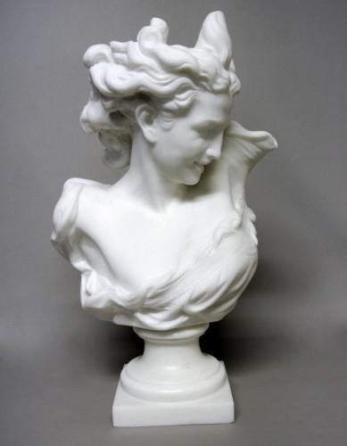 """Bust """" Le Génie de la Danse"""" d'après JB Carpeaux (1827/1875) - Sculpture Style Art nouveau"""