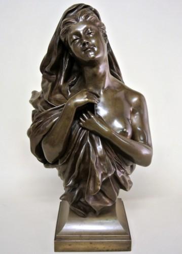 Bronze bust - Manuela (1847/1933) - Sculpture Style Art nouveau