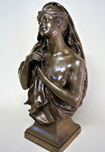 Sculpture  - Bronze bust - Manuela (1847/1933)