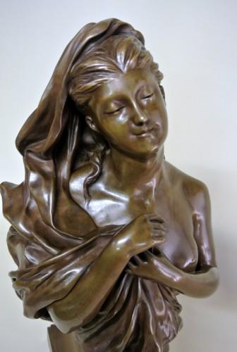 Bronze bust - Manuela (1847/1933) -