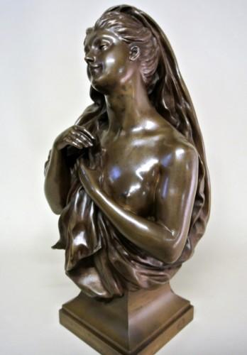 Bronze bust - Manuela (1847/1933) - Art nouveau