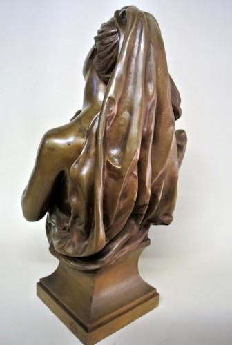 Art nouveau - Bronze bust - Manuela (1847/1933)