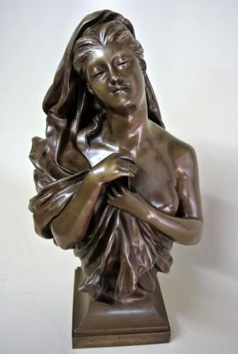 Antiquités - Bronze bust - Manuela (1847/1933)