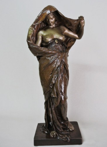 """La nature se devoilant devant la science"" par E. Barrias (1841/1905) - Sculpture Style Art nouveau"