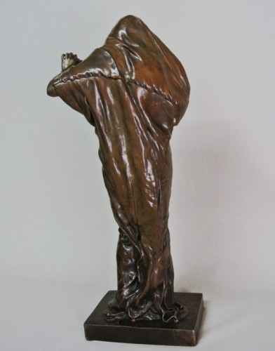 "Sculpture  - ""La nature se devoilant devant la science"" par E. Barrias (1841/1905)"