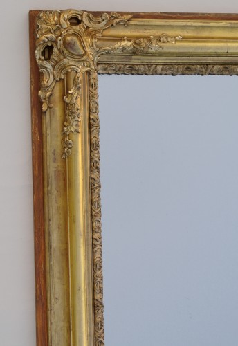 19th-century Mirror  - Mirrors, Trumeau Style Restauration - Charles X
