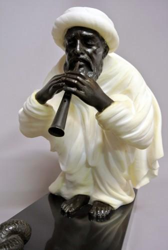 "Sculpture  - ""Snake charmer"" by  Alfredo Morelli (XIX/XXème)"