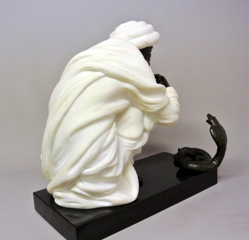 """Snake charmer"" by  Alfredo Morelli (XIX/XXème) - Art Déco"