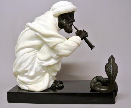"Art Déco - ""Snake charmer"" by  Alfredo Morelli (XIX/XXème)"