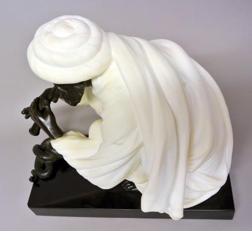 """Antiquités - """"Snake charmer"""" by  Alfredo Morelli (XIX/XXème)"""