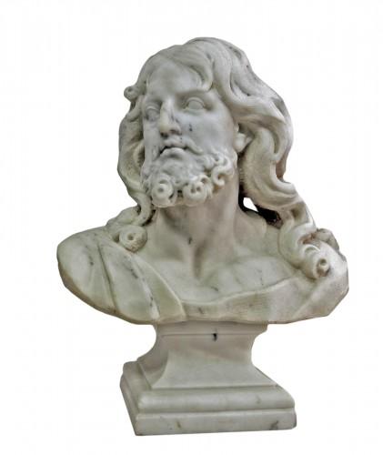 """""""Buste du Christ"""" marbre d'époque XIXème"""