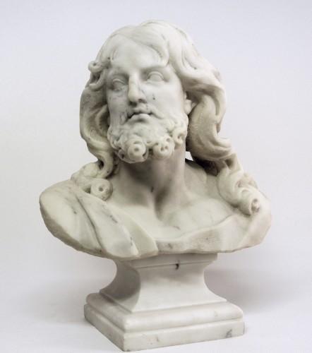 """""""Buste du Christ"""" marbre d'époque XIXème - Sculpture Style"""