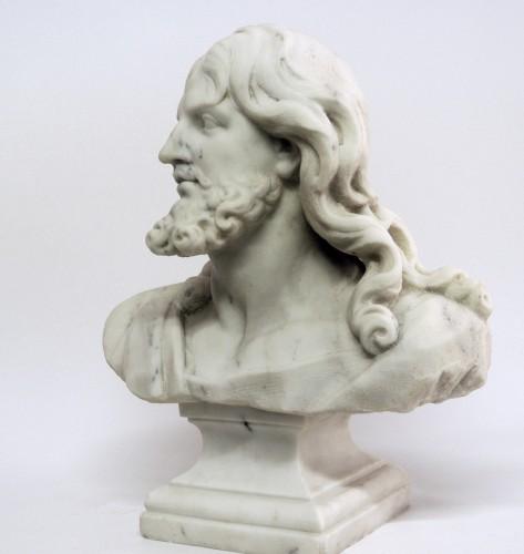 """Sculpture  - """"Buste du Christ"""" marbre d'époque XIXème"""