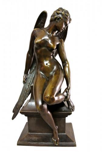 """""""L'hirondelle blessée"""" Alfred Boucher (1850/1934)"""