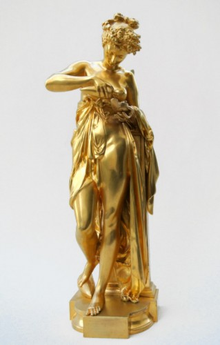 """""""Psyché à la lampe"""" A.Carrier-Belleuse (1824/1887) - Sculpture Style Art nouveau"""