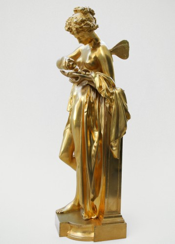 Sculpture Sculpture en Bronze - Psyché à la lampe - A.Carrier-Belleuse (1824/1887)