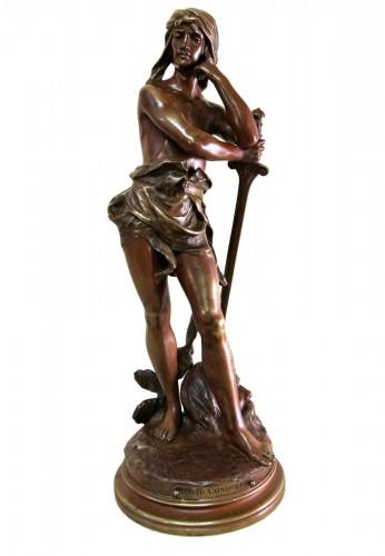 """""""David vainqueur"""" Henri Plé (1853/1922)"""