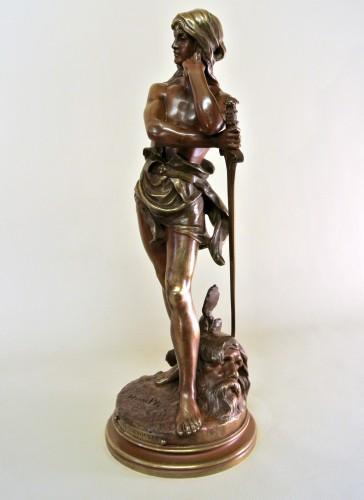 """""""David vainqueur"""" Henri Plé (1853/1922) - Sculpture Style Art nouveau"""