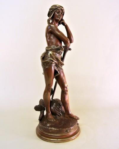"""Sculpture  - """"David vainqueur"""" Henri Plé (1853/1922)"""
