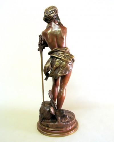 """""""David vainqueur"""" Henri Plé (1853/1922) -"""