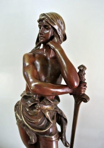 """Antiquités - """"David vainqueur"""" Henri Plé (1853/1922)"""