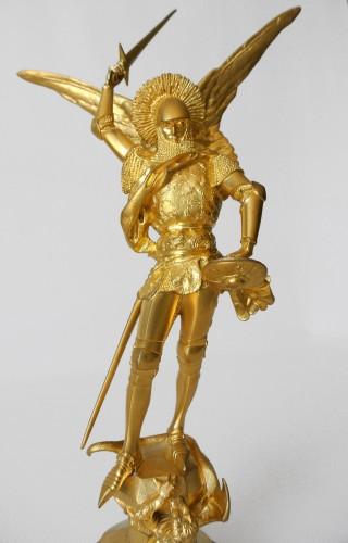 """""""Saint Michel"""" Emmanuel Frémiet (1824/1910) - Sculpture Style Art nouveau"""