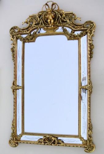 19th century century mirror - Mirrors, Trumeau Style Napoléon III