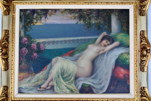 Young woman lying down, Louis Ridel (1866-1937) - Paintings & Drawings Style Art nouveau