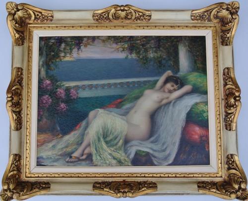 Young woman lying down, Louis Ridel (1866-1937) -
