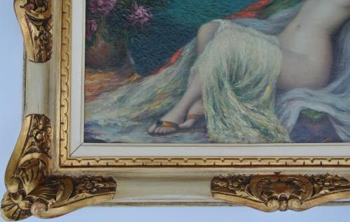 Young woman lying down, Louis Ridel (1866-1937) - Art nouveau