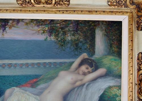 Antiquités - Young woman lying down, Louis Ridel (1866-1937)